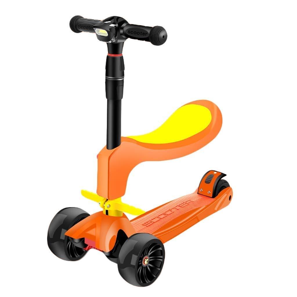 【国内在庫】 YHDD 子供の折りたたみスクーターは2-3-6歳の子供の初心者の4ラウンドを座ることができます (色 Orange : 赤) B07PY5Q92V Orange 赤) Orange Orange, 苗木部 by 花ひろばオンライン:bf086663 --- umniysvet.ru