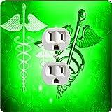 Rikki Knight 8866 Outlet Green Medical Doctor Symbol Design Outlet Plate