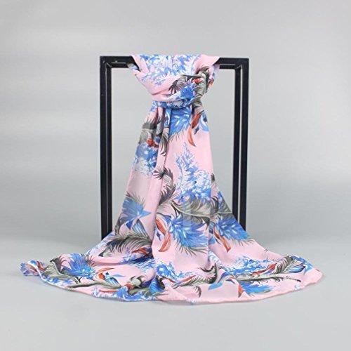 di Sciarpe sciarpa Sun Adeshop di dell'involucro di dello di sciarpa moda molle chiffon donne delle multifunzionali scialle Rosa stampate crema Sciarpa della della estate Aw7TqEfnxq