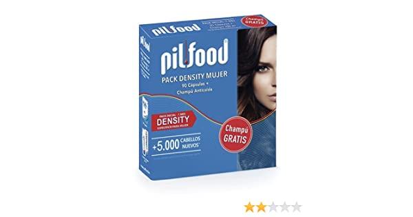 PILFOOD Pack Density (60 cápsulas + Champú Regalo): Amazon.es: Salud y cuidado personal