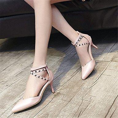 LvYuan Mujer-Tacón Stiletto-Otro-Sandalias-Vestido Informal Fiesta y Noche-Vellón-Negro Rosa Leopardo Pink