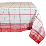 "DII 100% Cotton, Machine Washable, Dinner, Summer & Picnic Tablecloth 52x52"", Country Plaid, Seats 4 People"