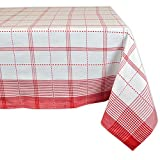 DII 100% Cotton, Machine Washable, Dinner, Summer & Picnic Tablecloth 52x52