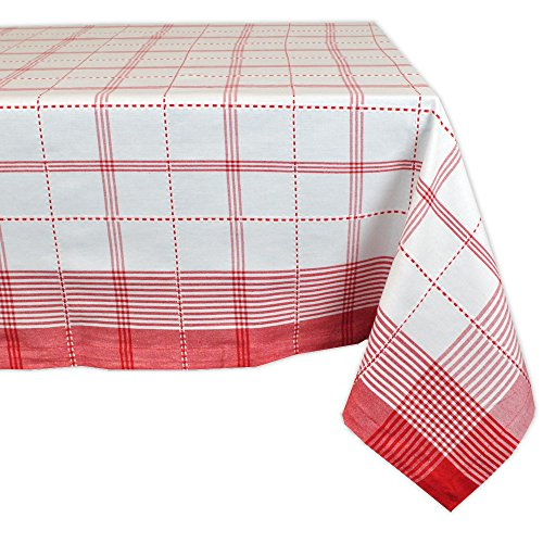 (Country Plaid Square Tablecloth, 100% Cotton with 1/2