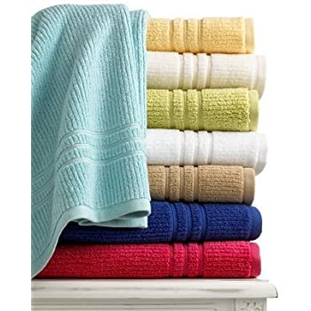 Martha stewart collection bath towel quick dry 27 x 52 bath towel coral pink Martha stewart bathroom collection
