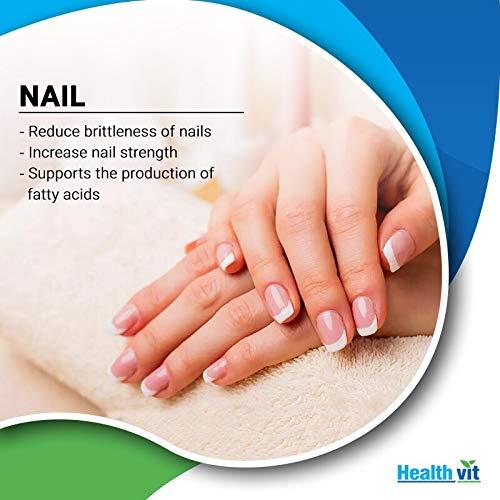 Healthvit Biotin for Hair, Skin and Nails 5000mcg - 60 Capsules