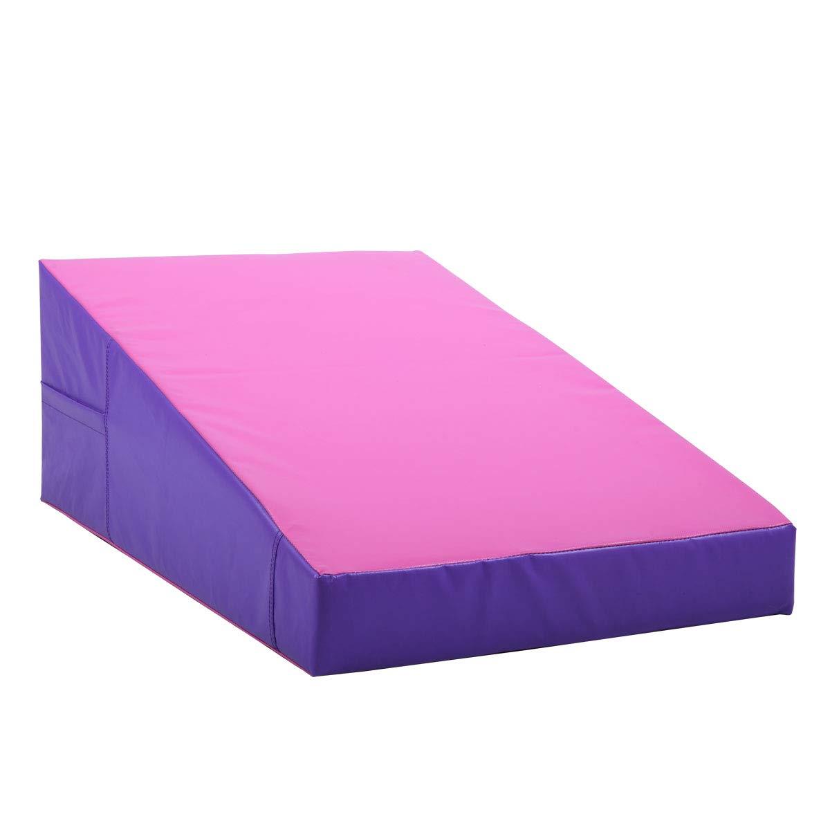 JAXPETY Gym Gymnastics Incline Mat Slope Cheese Exercise Aerobics Tumbling Fitness Wedge