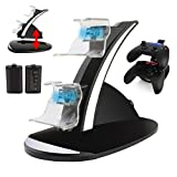 Xbox One Controller Charger Dual Dock Charging Station with Rechargeable Batteries and USB Cable for Xbox Ones Controller