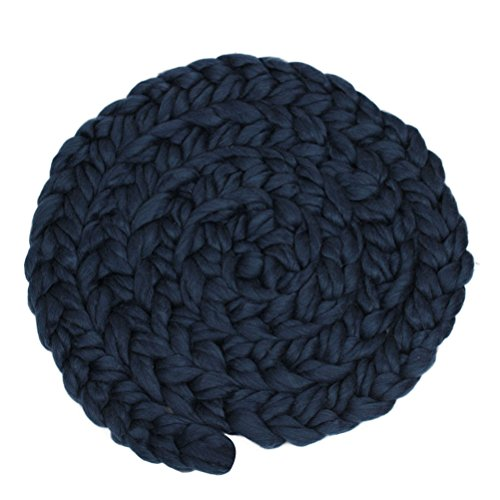 Museya Newborn Photography Props Baby Hand-woven Twisted Braid Rug -