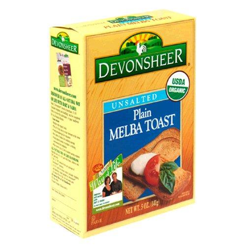 Devonsheer Plain Melba Toast, Unsalted, 5-Ounce Boxes (Pack of 12) by Devonsheer