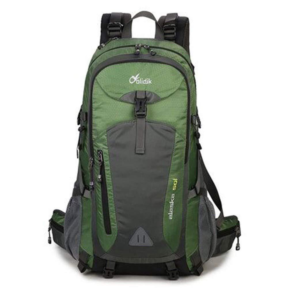 Upgraded version vert 60 LIUQI-Hikingsac à dos Sac de randonnée en Nylon de Grande capacité pour Le Sac à Dos d'alpinisme en Plein air pour Hommes et Femmes