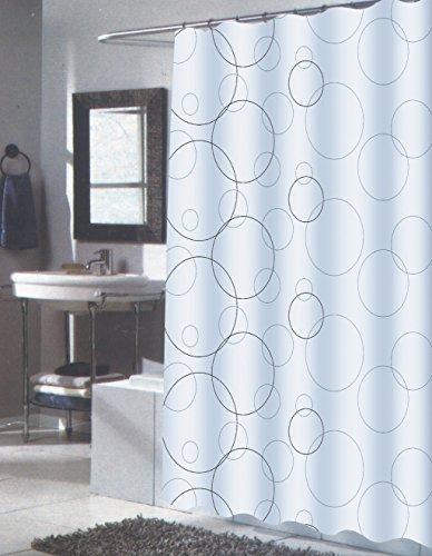 Splish Splash Abstract Bubbles Extra Long Fabric Shower Curtain Size 70quot X 84quot