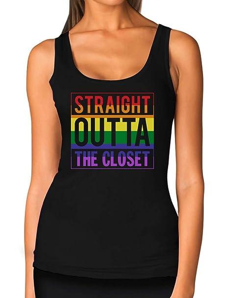 Teestars Recto Outta El Armario Gay Y Lesbiana Pride Mujeres Tank