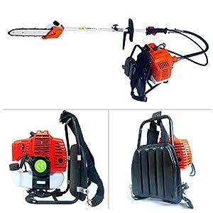 CHIKURA Backpack 43cc Long Reach Pole Gasoline Chain Saw Brush Tree Cutter Pruner