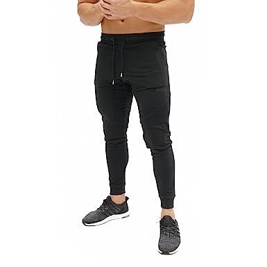 d7c483fc28760 ECHT Tapered Joggers Black V3 Men Pants Gym Wear Sweat Trousers Slim Fit  Bottoms (X