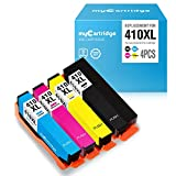 myCartridge Re-Manufactured Ink Cartridge Replacement for Epson 410XL 410 XL (1 Black 1 Cyan 1 Magenta 1 Yellow, 4-Pack)