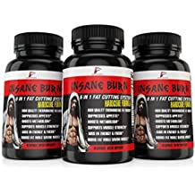 Insane Burn Fat Burner: Muscle Preserving Thermogenic Fat Burner Supplement for Men; Increase Weight Loss, Energy, Metablolism, and Mental Focus, 60 Capsules