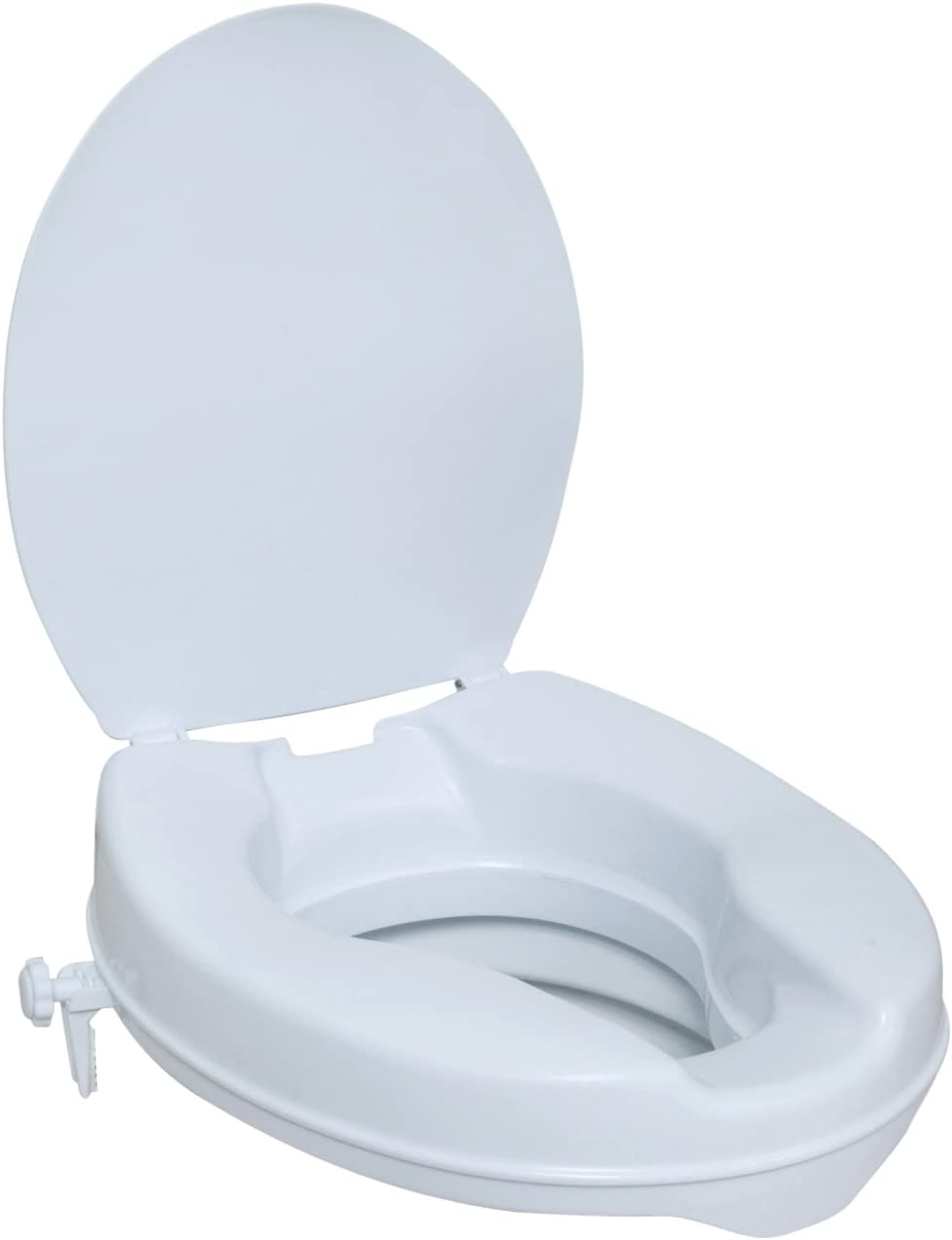 NRS Healthcare M11132 Stanton Raised Toilet Seat with Lid - 10 cm (4 Inch) Height