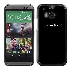 Cubierta de la caja de protección la piel dura para el HTC ONE M8 2014 - quote text minimalist white