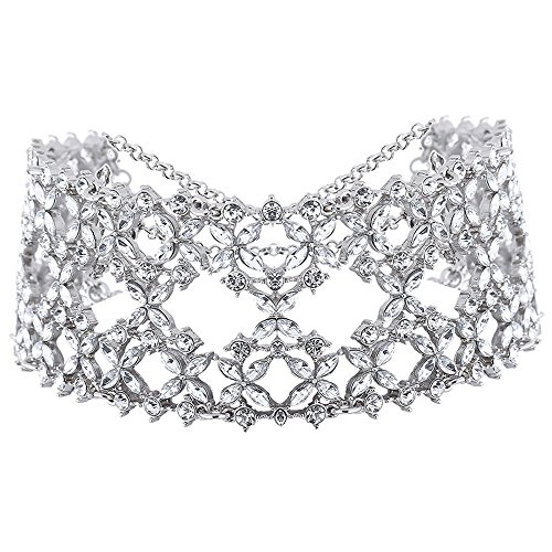 Young & Forever Women's Trendsetter Clear Crystal Bridal Wedding Night Choker Necklace by Young & Forever
