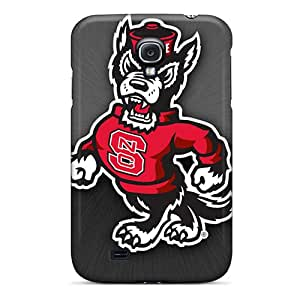 Shock Absorption Cell-phone Hard Covers For Samsung Galaxy S4 (jwd14086rKvf) Allow Personal Design HD Nc State Pattern