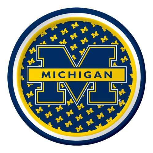 Michigan Wolverines Dessert Plates 8 Count