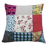 Diseñador Cojín decorativo Patchwork Sofá Home Décor Funda de almohada de algodón multicolor Throw India 17'' pulgadas
