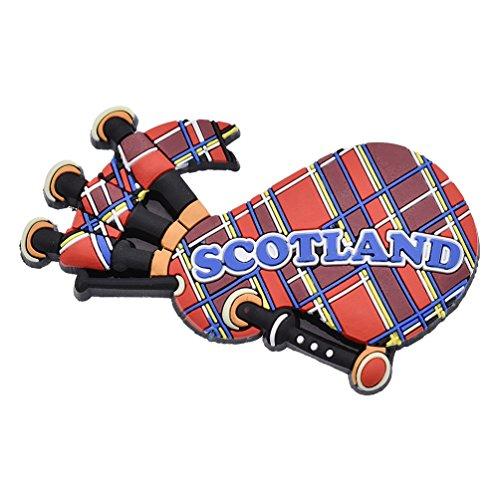 KOZOREN Scotland Bagpipe Royal Rubber Fridge Magnet Tourist Souvenir Gift (Bagpipe) (Scotland Fridge Magnet)