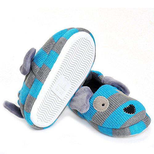 Pictures of Enteer Baby Boys' Doggy Slipper Blue 3