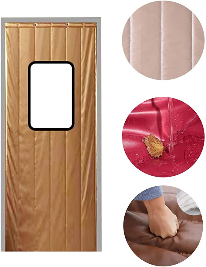 WHAIYAN Invierno Espesar Algodón Cortina De Puerta Empresa Fábrica Invernadero Aislamiento Reducción De Ruido Protección contra El Frío , Oro, 36 Tamaños (Color : Gold#A, Size : 1.3X2.1M): Amazon.es: Hogar