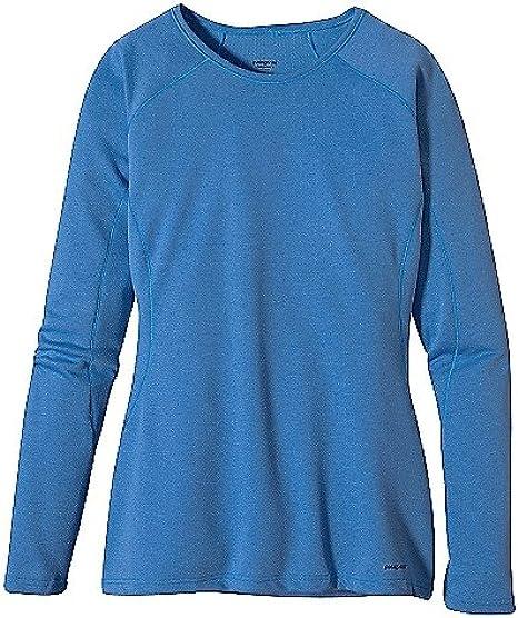 Amazon Com Patagonia Capilene 3 Midweight Crew Top Women S Alaska Blue Clear Seas X Dye Xl Clothing