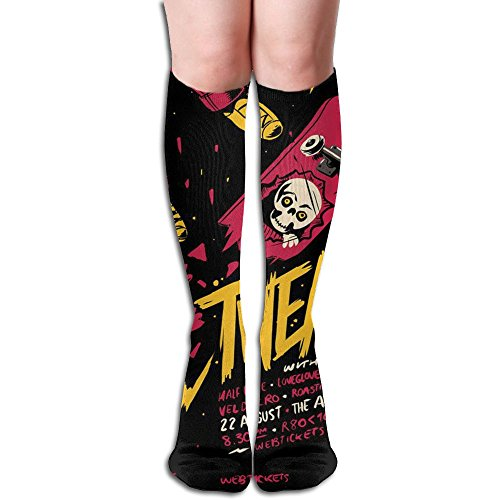 Unique Hip-hop Rap Music Knee High Socks Running Long Socks For Girls by MAYWU