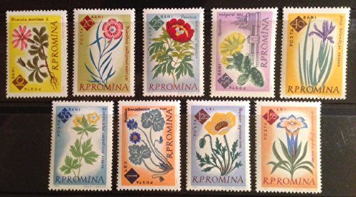 Mint Stamps Flowers - Romania Complete 1961 Postage Stamp Set - Nine Beautiful Garden Flowers, Mint Never Hinged - Sc. 1459-1467