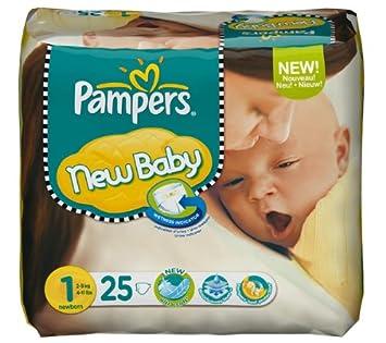 PAMPERS Pañales New Baby Talla 1 recién nacido (2-5 kg) - Paquete
