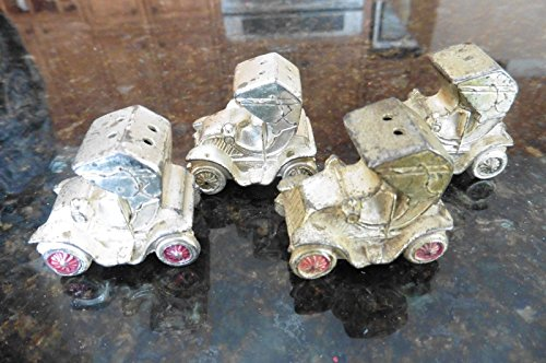 4 Metal Ford Model T Salt & Pepper Shakers Vintage Old car style Made in Japan -