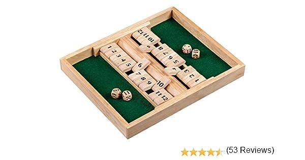 Philos 3282 Puzzle Games Shut The Box, 12S, Color marrón Claro: Amazon.es: Juguetes y juegos