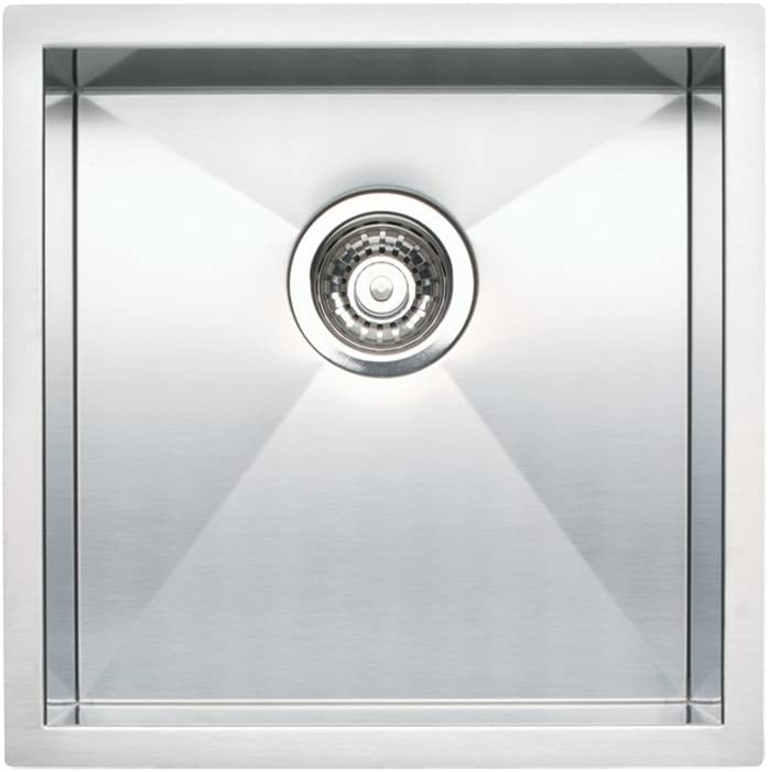 Blanco 518168 QUATRUS R0 Undermount Bar Sink, 8.00 x 17.00 x 17.00 inches