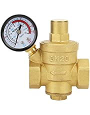 """Drukreducerende klep, DN20 3/4 """"Messing Waterdruk Verminderende Klep 3/4 ''Verstelbare Watercontrole Drukregelaar Klepdraad met Meter"""