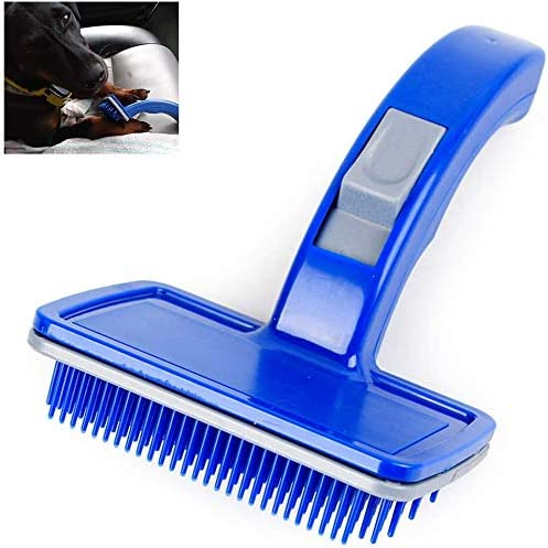 Keemov Deshedding Tool Pet Grooming Borstel Kat Hond Grooming Slicker Borstel Reiniging Slicker Borstel voor kort of lang haar
