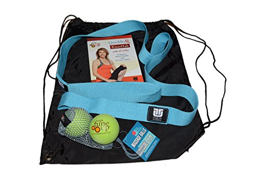 Yoga Tune Up Quickfix RX KneeHab with Jill Miller Kit including instructional dvd, original set of yoga tune up therapy balls, and a stretch strap ()