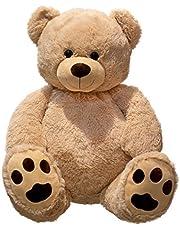 Grote teddybeer knuffelbeer XXL 100 cm groot pluche berenknuffel fluweelzacht - om van te houden