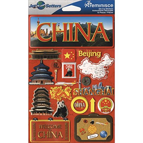 Reminisce Jet Setters 3D Sticker. This package contains one 7.5 inch x 4.5 inch self-adhesive sticker sheet. Sold separately. Made in China.