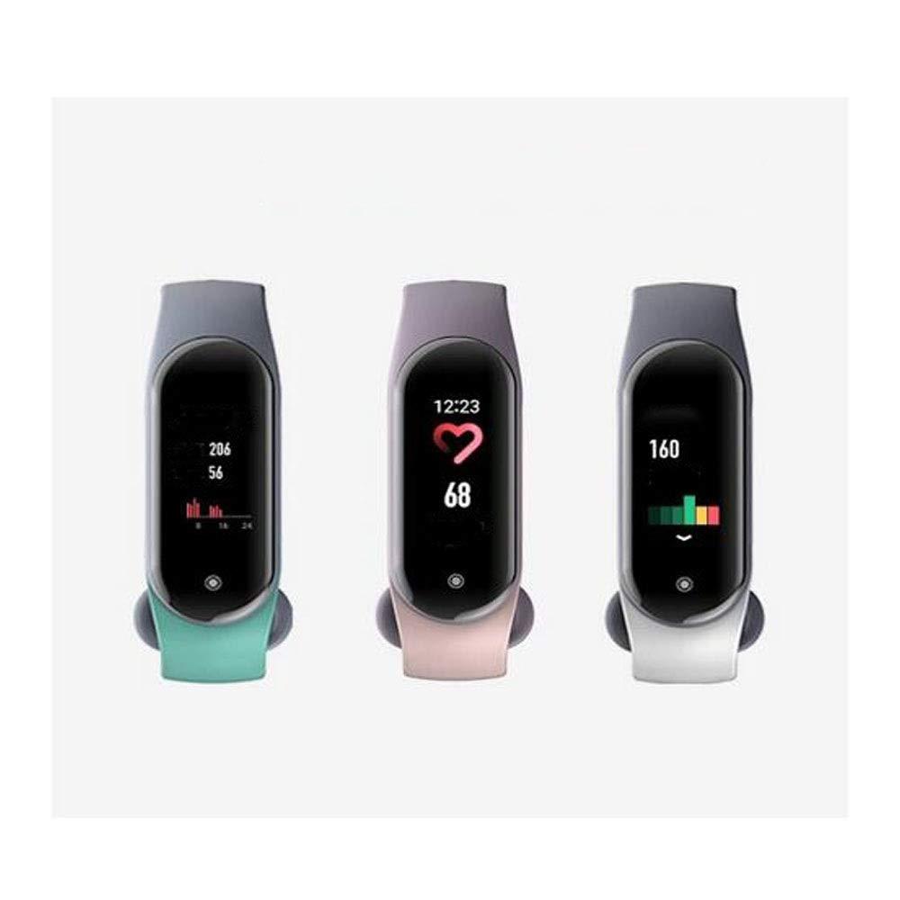 睡眠モニター、心拍数モニター、歩数計、カロリーカウンター、チャイルド防水スマートフィットネストラッカー、女性と男性 (Color : White) B07TF16SX3 White