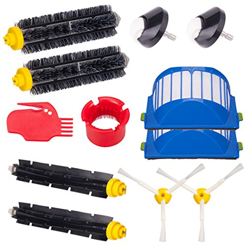 I-clean For iRobot Roomba 650 655 660 620 630 645 Vacuum Cleaner Parts, 12 Pcs Replacement Roomba Brushes Kit 600&700 Series