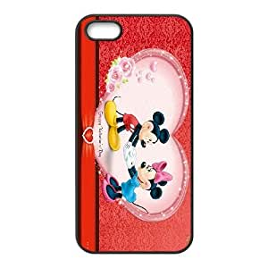 DISNEY MICKEY MOUSE HD 659870 funda iPhone 5 5s funda caja del teléfono celular cubre negro, el funda iPhone 5 5s casos Funda negro