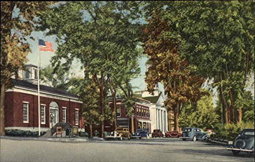 West Side of Common Plymouth, Massachusetts Original Vintage Postcard