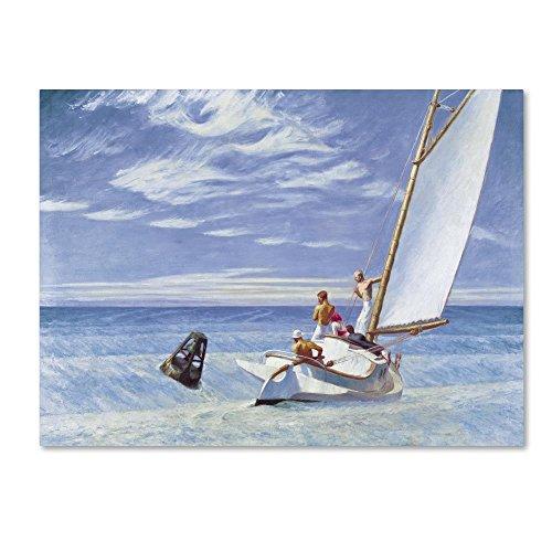 Hopper Edward Ground Swell Art - Trademark Fine Art Ground Swell by Edward Hopper, 14x19-Inch Canvas Wall Art