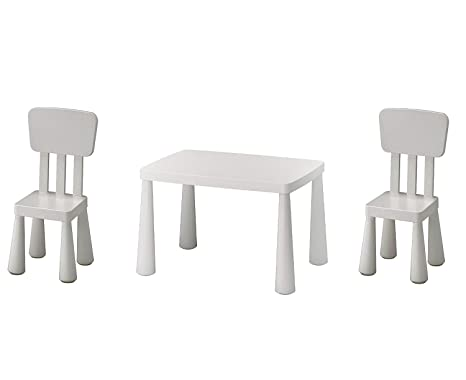 IKEA Mammut Mesa y 2 sillas Color blanco