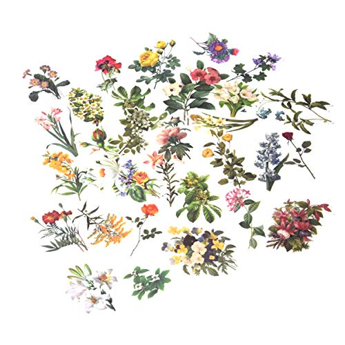 Beyong [60PCS] Cute Flowers Stickers, Watercolor Potted Plant Decals, for Phone, Pad, Laptop, Planner, Diary, Journal, ()