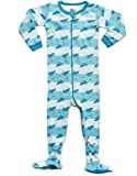 Frogmouth Boys Footed Sleeper Shark Fish Pajama 100% Cotton (6 Months-5 Years)